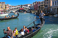 View of the Rialto Bridge on the Grand Canal, Venice, Italy. 200509300329...Copyright Image from Victor Patterson, 54 Dorchester Park, Belfast, UK, BT9 6RJ..Tel: +44 28 9066 1296.Mob: +44 7802 353836.Voicemail +44 20 8816 7153.Skype: victorpattersonbelfast.Email: victorpatterson@mac.com.Email: victorpatterson@ireland.com (back-up)..IMPORTANT: If you wish to use this image or any other of my images please go to www.victorpatterson.com and click on the Terms & Conditions. Then contact me by email or phone with the reference number(s) of the image(s) concerned.
