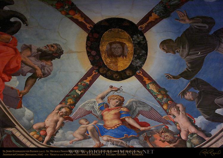 Vault Frescoes Bronzino Chapel of Eleonora Apartment of the Elements Palazzo Vecchio Florence
