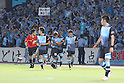 Kawasaki Frontale team group, JULY 16th, 2011 - Football : Juninho (C) of Kawasaki Frontale celebrates with his teammate Satoshi Kukino 29 after scoring their third goal from the penalty spot during the 2011 J.League Division 1 match between between Kawasaki Frontale 3-2 Kashiwa Reysol at Todoroki Stadium in Kanagawa, Japan. (Photo by Kenzaburo Matsuoka/AFLO).