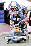 19 December 2010: Karl Angerer leads his 4-Man Bobsled team in the push-off, taking 4th place for Germany at the Viessmann FIBT World Cup Championships on Mount Van Hoevenberg in Lake Placid, New York, USA. Mandatory Credit: Ed Wolfstein Photo
