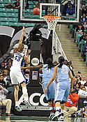 Allison Vernerey makes a shot in the first half. This was the Championship game of the 2011 ACC Tournament in Greensboro on March 6, 2011. Duke beat UNC 81-66. (Photo by Al Drago)