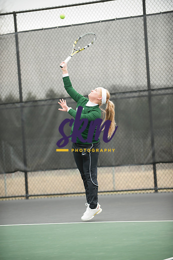 Stevenson tennis hosted York College in a men's and women's match on Saturday afternoon at Stevenson's Greenspring Campus.