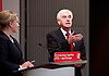 John McDonnell MP,  Labour&rsquo;s Shadow Chancellor<br /> post-Brexit economy speech<br /> Labour&rsquo;s plans for the economy post Brexit and what Labour wants to see from the upcoming negotiations.<br /> at The Institute of Mechanical Engineers, One Birdcage Walk, London, Great Britain <br /> 27th October 2016&nbsp;<br /> <br /> Rebecca Long-Bailey <br /> Shadow Chief Secretary to the Treasury<br /> <br /> John McDonnell MP<br /> Hayes and Harlington, Middlesex<br /> <br /> <br /> Photograph by Elliott Franks <br /> Image licensed to Elliott Franks Photography Services