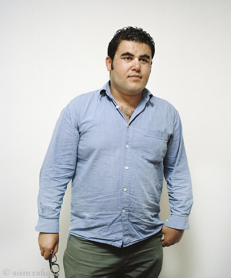 Mohammad El Majdalawi, a refugee in Uppsala, from Gaza.