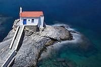 The beautiful church Agia Thalassini in Chora of Andros island, Greece
