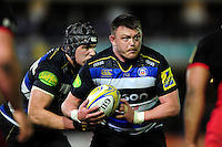 David Wilson of Bath Rugby in possession. Aviva Premiership match, between Bath Rugby and Saracens on April 1, 2016 at the Recreation Ground in Bath, England. Photo by: Patrick Khachfe / Onside Images