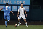 23 September 2016: Boston College's Younes Boudadi (BEL) (3) and North Carolina's David October (ENG) ( 11). The University of North Carolina Tar Heels hosted the Boston College Eagles in Chapel Hill, North Carolina in a 2016 NCAA Division I Men's Soccer match. UNC won the game 5-0.