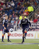 New England Revolution defender Seth Sinovic (27) passes the ball. The New England Revolution defeated Kansas City Wizards, 1-0, at Gillette Stadium on October 16, 2010.