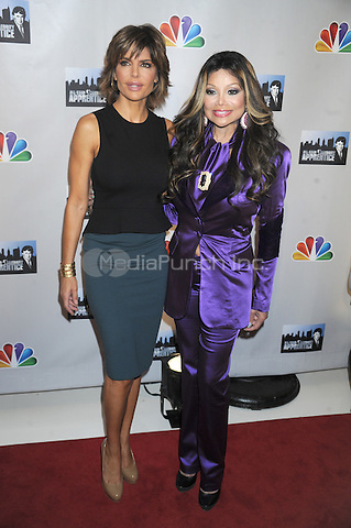 Lisa Rinna and La Toya Jackson at the press conference introducing the All-Star Celebrity Apprentice Season 13 cast. Jack Studios in New York City. October 12, 2012.. Credit: Dennis Van Tine/MediaPunch