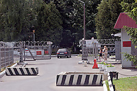 Odinitsovo, Russia, 26/06/2007..The guarded entrance to the military hospital which houses Doctor Zobin's Medical Centre For Drug And Alcohol Dependence. The centre, which uses radical therapy developed by the former military doctor to treat Russian soldiers who became addicted in Afghanistan, claims an 85% success rate in curing heroin addiction.