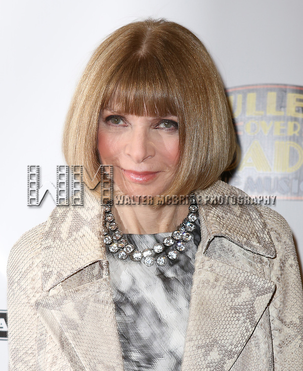 Anna Wintour attending the Broadway Opening Night Performance of ''Bullets Over Broadway' at the St. James Theatre on April 10, 2014 in New York City.