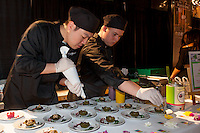 Cruda Café's Raw Truffle King Oyster Mushroom Tartlets at FoodShare Toronto's Recipe for Change, February 28,  2013