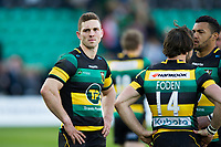 George North of Northampton Saints looks dejected after the match. Aviva Premiership match, between Northampton Saints and Leicester Tigers on March 25, 2017 at Franklin's Gardens in Northampton, England. Photo by: Patrick Khachfe / JMP