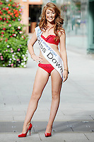17/9/2010. Miss Ireland contestants. Miss Down Melissa Mc Gee  is pictured at St Stephens Green. the 35 Miss Ireland contestants officially unveiled in their swimwear and sashes for the 1st time at Stephen's Green Shopping Centre,  Dublin. Picture James Horan/Collins Photos