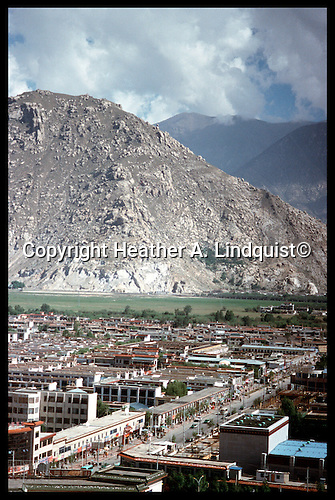 View of Lhasa from the Potala Palace.<br />