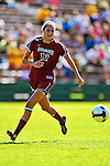 19 September 2010: Colgate University Raider defender Sarah Henderson, a Sophomore from Rochester, NY, in action against the University of Vermont Catamounts at Centennial Field in Burlington, Vermont. The Raiders scored a pair of second half goals two minutes apart to notch a 2-0 victory over the Lady Cats in non-conference women's soccer play. Mandatory Credit: Ed Wolfstein Photo