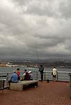 Cloudy sky, Playa de las Canteras, Las Palmas, Gran Canaria, Canary Islands.