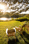 Adirondack Chairs on Grass by the Deschutes River, Bend