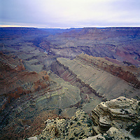 Scenic View from South Rim, overlooking Colorado River in Grand Canyon