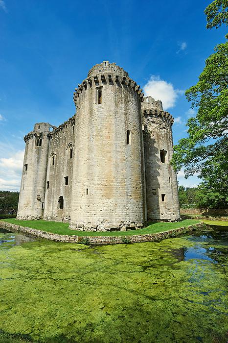 Nunney Castle built in the 1370s by Sir John de la Mere, Somerset, England