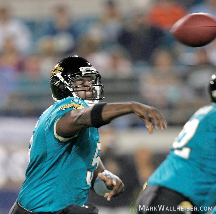 Jacksonville Jaguars Quinn Gray throws his first touchdown as an ...
