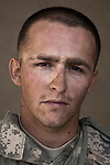 SPC Bryan Glidden. Milford, Michigan. 23. Charlie Co. 1st Battalion 12th Infantry Regiment, 4th Infantry Division. Photographed at Combat Outpost JFM in Zhari District, Kandahar, Afghanistan.