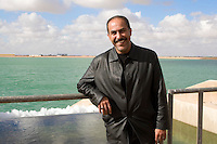 Saluq, Cyrenaica, Libya - Great Man-made River Reservoir and Engineer Sami