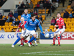 St Johnstone v Brechin...07.01.12  Scottish Cup Round 4.Fran Sandaza scores to make it 2-1.Picture by Graeme Hart..Copyright Perthshire Picture Agency.Tel: 01738 623350  Mobile: 07990 594431