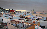 Rooftops of the medina or old town of Tetouan on the slopes of Jbel Dersa in the Rif Mountains of Northern Morocco. Tetouan was of particular importance in the Islamic period from the 8th century, when it served as the main point of contact between Morocco and Andalusia. After the Reconquest, the town was rebuilt by Andalusian refugees who had been expelled by the Spanish. The medina of Tetouan dates to the 16th century and was declared a UNESCO World Heritage Site in 1997. Picture by Manuel Cohen