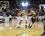 Ole MIss' Amber Singletary (20) vs. Northwestern State's Arianne Ausmer (20) in women's college basketball action in Oxford, Miss. on Friday, November 16, 2012.
