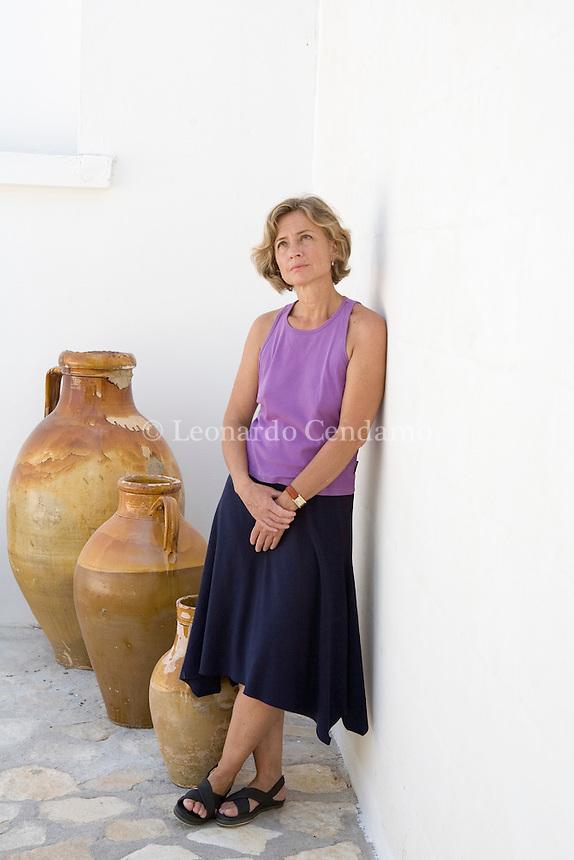 Ostuni (BR), Italy, July 2006. Cristina Comencini, Italian director, scriptwriter and writer. Daughter of the Director Luigi Comencini.