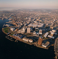 1999 January 26..Aerial..Downtown  Norfolk Waterfront.Macarthur Mall.Condos.Towne Point Park.from helicopter..Gene Woolridge.NEG# 11790 - 62.NRHA#..