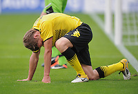 FUSSBALL   1. BUNDESLIGA  SAISON 2011/2012   2. Spieltag   13.08.2011 TSG 1899 Hoffenheim - Borussia Dortmund  Enttaeuschung Borussia Dortmund:  Lukasz Piszczek am Boden