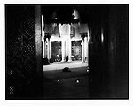 Men praying in Mosque of Paris, near Jardin des Plantes.