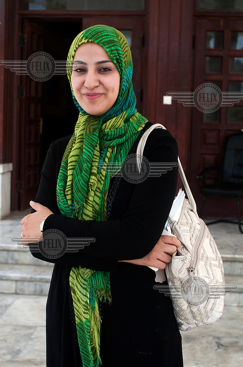 A portrait of 27 year old Naheed Farid, Afghanistan's youngest MP, in Herat.