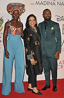 Lupita Nyong'o, Mira Nair and David Oyelowo at the &quot;Queen of Katwe&quot; 60th BFI London Film Festival Virgin Atlantic gala screening, Odeon Leicester Square cinema, Leicester Square, London, England, UK, on Sunday 09 October 2016.<br /> CAP/CAN<br /> &copy;CAN/Capital Pictures /MediaPunch ***NORTH AND SOUTH AMERICAS ONLY***