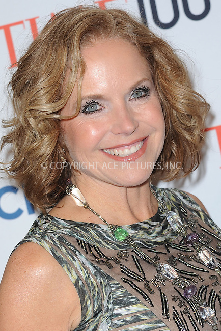 WWW.ACEPIXS.COM<br /> April 29, 2014 New York City<br /> <br /> Katie Couric attending the TIME 100 Gala, TIME's 100 most influential people in the world, at Jazz at Lincoln Center on April 29, 2014 in New York City..<br /> <br /> Please byline: Kristin Callahan<br /> <br /> ACEPIXS.COM<br /> <br /> Tel: (212) 243 8787 or (646) 769 0430<br /> e-mail: info@acepixs.com<br /> web: http://www.acepixs.com