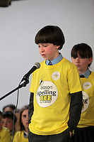 NO FEE PICTURES.8/3/12 Edward Collins, St Mary's NS, Donnybrook, taking part in the Dublin County final, part of the overall Eason 2012 Spelling Bee, held at St Olaf's NS, Dundrum. .For further details visit www.easons.com/spellingbee and stay tuned to RTE 2fm. Picture:Arthur Carron/Collins