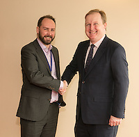 Nottingham City Business Club president James Simmonds with Jake Kelly, MD of East Midlands Trains