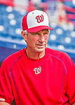 3 March 2016: Washington Nationals Bench Coach Chris Speier watches batting practice prior to a Spring Training pre-season game against the New York Mets at Space Coast Stadium in Viera, Florida. The Nationals defeated the Mets 9-4 in Grapefruit League play. Mandatory Credit: Ed Wolfstein Photo *** RAW (NEF) Image File Available ***