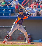 5 March 2013: Houston Astros infielder Marwin Gonzalez in action during a Spring Training game against the Washington Nationals at Space Coast Stadium in Viera, Florida. The Nationals defeated the Astros 7-1 in Grapefruit League play. Mandatory Credit: Ed Wolfstein Photo *** RAW (NEF) Image File Available ***