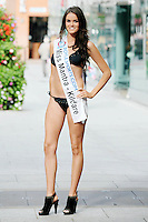 17/9/2010. Miss Ireland contestants. Miss Kildare Julie Summerville is pictured at St Stephens Green. the 35 Miss Ireland contestants officially unveiled in their swimwear and sashes for the 1st time at Stephen's Green Shopping Centre,  Dublin. Picture James Horan/Collins Photos