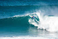 MARGARET RIVER, Western Australia/AUS (Saturday, April 1, 2017) Jacob Willcox (AUS) - After further assessment of the conditions on offer the event officials called men's Rounds 3 and 4 of the Drug Aware Margaret River Pro ON with an 8:45 a.m. start at Main Break in clean eight-to-ten foot plus conditions. The event had switched from the previously communicated venue, The Box, due to an unfavorable swell period.<br /> <br /> &ldquo;We have kept a close eye on the conditions at The Box and have realised it is not as ideal as we first thought,&rdquo; said WSL Deputy Commissioner Renato Hickel. &ldquo;The Box is a wave that works best on a short period large swell. The period today is quite long and is causing the wave to break in the wrong spot. Unfortunately, it isn&rsquo;t contestable for our athletes so we will move back to Main Break. The good news is that there are some sets in the 10-to-12 foot range at Main Break so regardless of our move, it&rsquo;s going to be a spectacular day of surfing.&rdquo;<br />  Photo: joliphotos.com