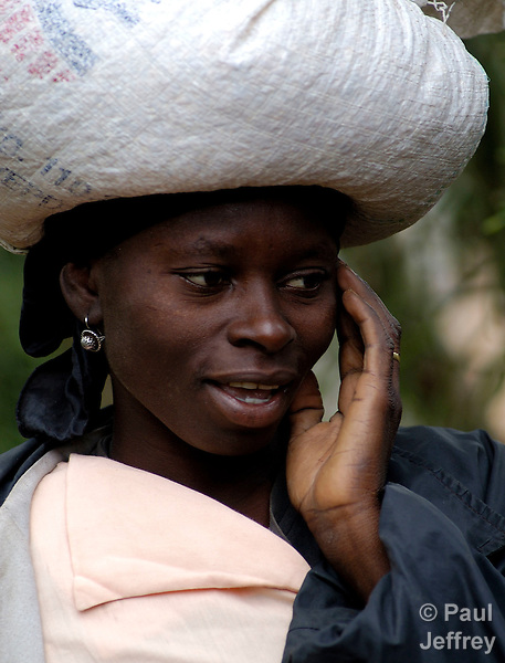 A Haitian woman in the isolated northwest of the Caribbean island nation.