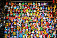 Masks, Market Day, Chichicastenango, Western Highlands, Guatemala