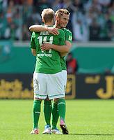 FUSSBALL   DFB POKAL   SAISON 2011/2012  1. Hauptrunde FC Heidenheim - Werder Bremen              30.07.2011 Jubel Markus Rosenberg, Aaron Hunt (v. li., SV Werder Bremen)
