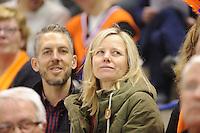 SPEED SKATING: CALGARY: Olympic Oval, 08-03-2015, ISU World Championships Allround, Tonny de Jong en haar man Mark Knoll als toeschouwer, ©foto Martin de Jong