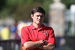 30 August 2013: Northeaster Associate head coach Adam Pfeifer. The Elon University Phoenix played the Northeastern University Huskies at Koskinen Stadium in Durham, NC in a 2013 NCAA Division I Men's Soccer match. The game ended in a 1-1 tie after two overtimes.