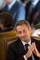 Nicolas Sarkozy honors Belgian minister Didier Reynders - Brussels