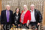 Enjoying the Lee Strand Social at Ballygarry House Hotel on Saturday were Tim O'Donoghue, Martina O'Donoghue, Denise O'Sullivan and William Guerin